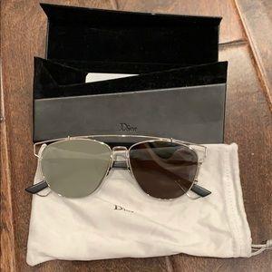Christian Dior silver metal sunglasses